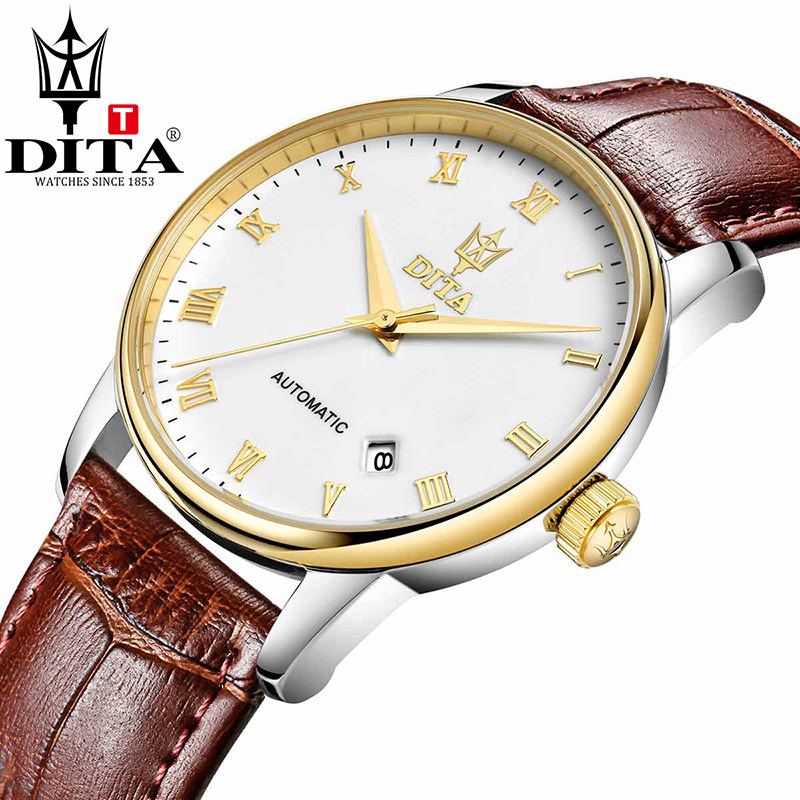 Mechanical Watch Men Fashion WristWatches DITA Brand Skeleton Watch Men Automatic Geniune Leather Strap Reloj Hombre Hotsell серьги коюз топаз серьги т301025889
