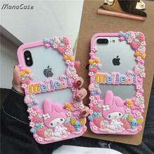 Cute 3D Japan Melody Strawberry Frame Phone Case For