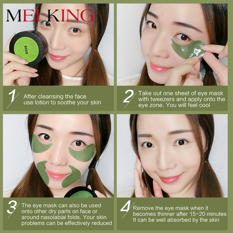 Image 3 - MEIKING Collagen gel Eye Hyaluronic Acid Remover Dark Circles Eye Patches Anti Puffiness Anti Aging Moisturizing Eyes 60pc-in Creams from Beauty & Health