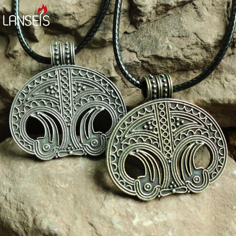 10 piezas de réplica de un colgante vikingo de la ciudad de Moesgard (Dinamarca)-in Collares colgantes from Joyería y accesorios    1