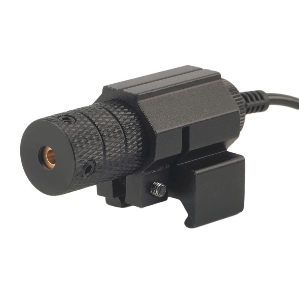 2017 new Tactical Mini Red Dot Laser 5mW Powerful Sight Aluminum Laser Sight Scope Set for Rifle No battery