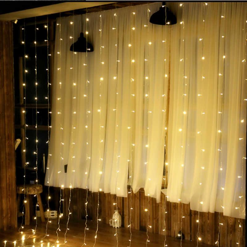 450 см X 300 см 300 светодиодный сосулька огни строки Рождественские огни Фея новый год Рождество дома для свадьбы/ вечерние/Шторы/сада