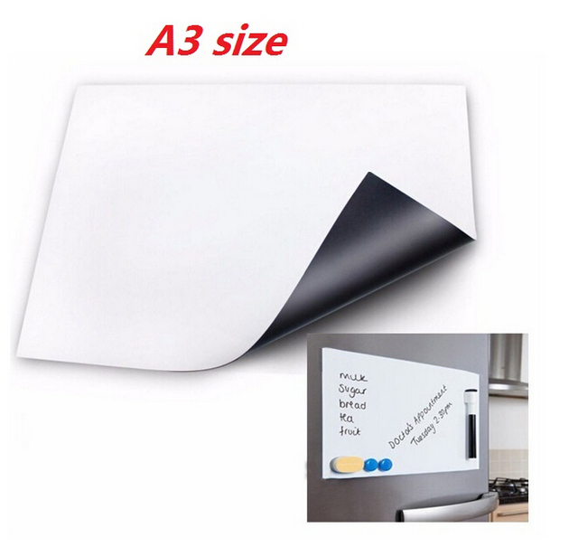 A3 A4 Size Magnetic Whiteboard For Fridge Sticker Kitchen Pad Magnets Dry  Erase Board White Boards