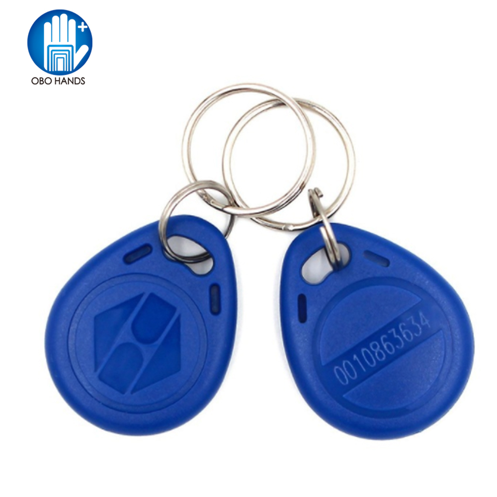 (pack Of 10/50/100) 125KHz RFID Keyfobs Access Control Keycard Keychains For Door Electric Lock System Nfc Token Tag Blue