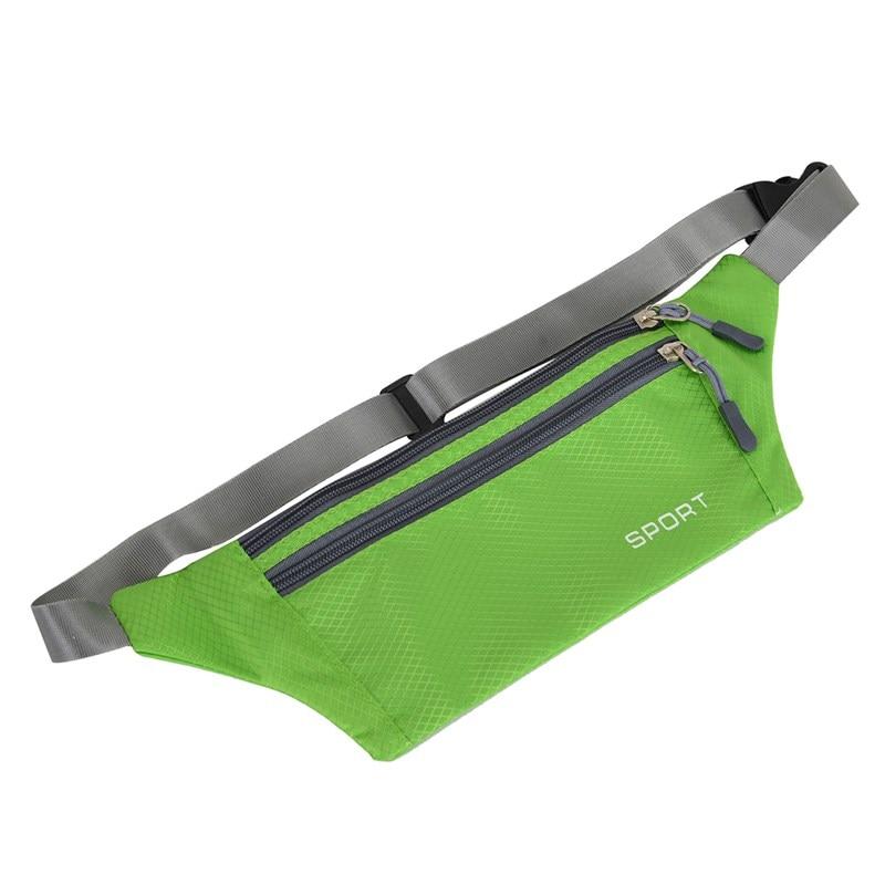 Men Women Pouch Sport Bum Waist Bag Chest Shoulder Pack Travel Handy Fanny Wallet Belt Zip Running Hiking Waterproof Outdoor