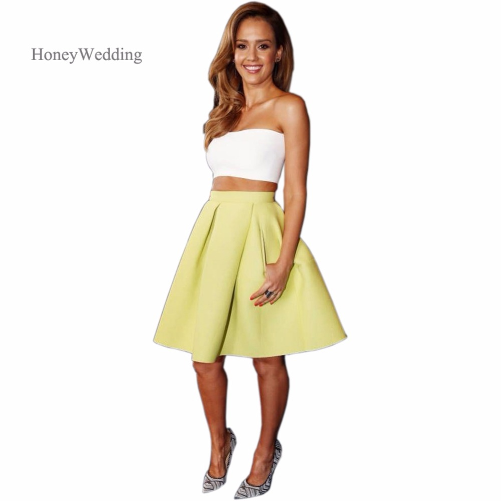 fantastic light yellow skirt outfit 9