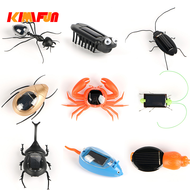 Solar Ant insect Kids Cockroach Toys Magic Solar Powered Ant Insect Play Learn Educational Solar Novelty Toys for Children Gift new 1 pcs children baby solar power energy insect grasshopper cricket kids toy gift solar novelty funny toys