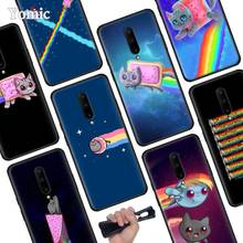 Cute Nyan Cat Rainbow Black Soft Case for Oneplus 7 Pro 7 6T 6 Silicone TPU Phone Cases Cover Coque Shell