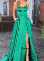 Новое модное длинное платье для выпускного вечера 2019 сексуальное платье с открытой спиной с высоким разрезом Вечерние вечернее платье с бр