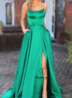 New Fashion Long Prom Dress 2019 Sexy Backless High Slit Dress Women Party Gown Halter Neck