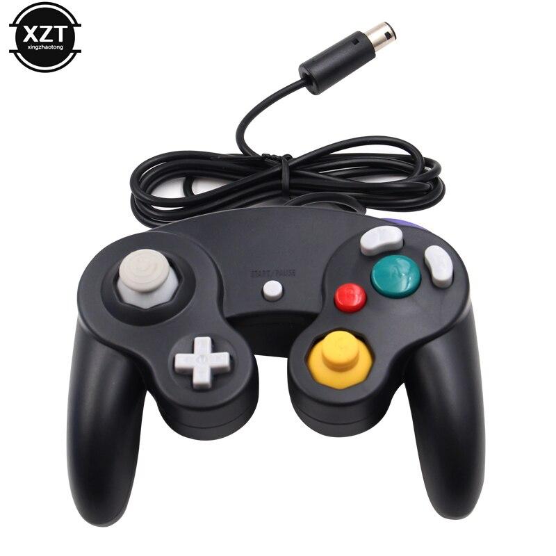 Controle para nintendo switch, joystick portátil com fio para controlador de jogos, gamepad, para nintendo switch, wii, mac