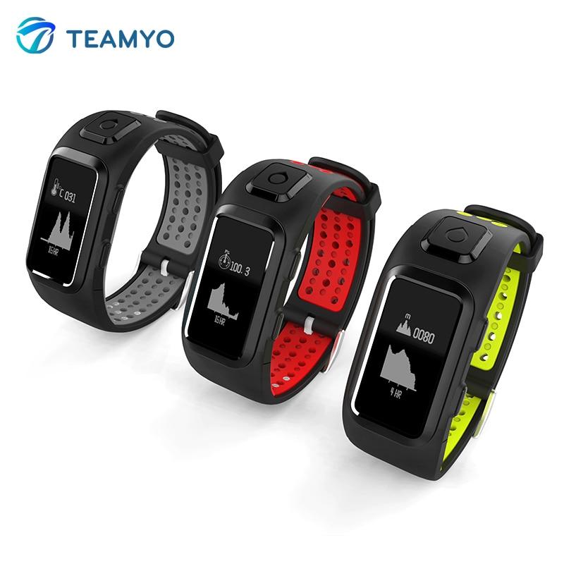 Teamyo DB10 GPS Smart band Heart rate monitor Fitness Activity Tracker Smart Watch bracelet Waterproof multiple sport patterns