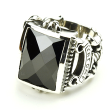 Thailand jewelry  Mens Thai Silver Ring with Atmospheric Gem Ring Face Mens silver ring