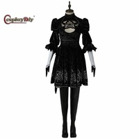 Game NieR Automata 2B YoRHa No 2 Dress Costume Without Shoes Adult Women Halloween Carnival Cosplay
