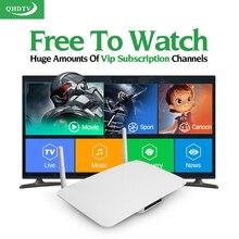 Cinéma libre Sports TV Série Arabe IPTV Box Android Smart TV boîte Europe Français Turc IPTV Top Box QHDTV Abonnement IPTV compte