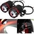 2 PCS 12 V 30 W Escudo Vermelho U3 LED Motorcycle Driving Fog Spot Light Farol