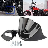 Glossy Black Motorcycle Front Chin Spoiler Air Dam Fairing Cover Mudguard Air Dam Fairing for Harley Dyna 2006 2017