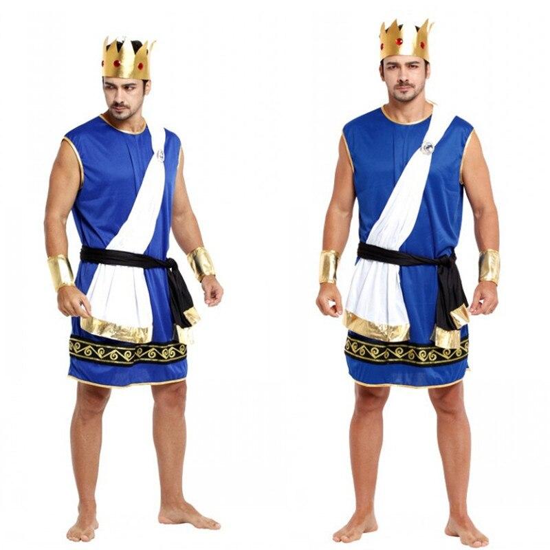 Fantasia adulto Hommes la mythologie Nordique Roi Zeus Cosplay Halloween Costumes Carnaval Pourim Mascarade Rave party Stade jouer robe