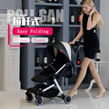 Cochecito de bebé Ultra Portátil De Aire Traval Moda Paraguas Plegable de Cuatro Ruedas Cochecito de Bebé Cochecito para Niños PU