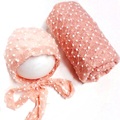 10 Color Newborn Baby Wrap Hat Set Photography Props,Boutique Stretch Wrap Soft Baby Blankets Newborn Posing Fabric,#P0252