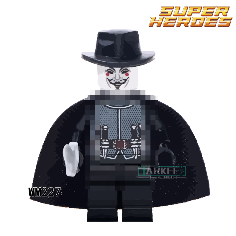 Building Blocks Smart Super Heroes Single Sale WM227 The Antiheroes Guy Fawkes Magic Teacher Children Gift Toys Action Figures