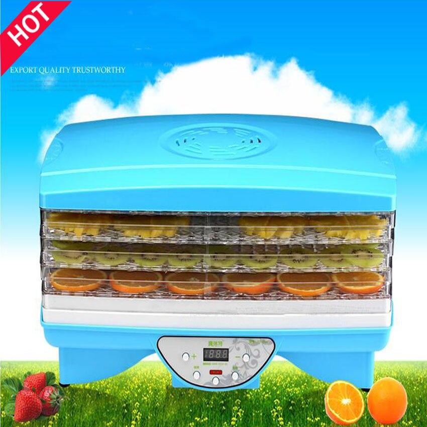 1 StÜck Fd890 Mikrocomputer Trockenfutter Gemüse Dehydrierung Getrocknete Lebensmittel Obst Maschine Trockner Mit 5 Trays