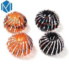 M MISM Pearl Rhinestones Colorful Bud Hair Claw Maker Bun Hairgrip Hairpins Hair Accessories Hair Clips For Women Girls Bezel