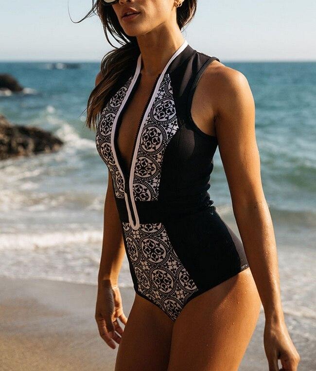 New 2017 Sexy Retro One Piece Swimsuit Femme Bodysuit Bathing Suit Women Bikini Set Zipper Beachwear Halter Monokini Swimwear new 2017 sexy retro one piece swimsuit femme bodysuit bathing suit women bikini set zipper beachwear halter monokini swimwear