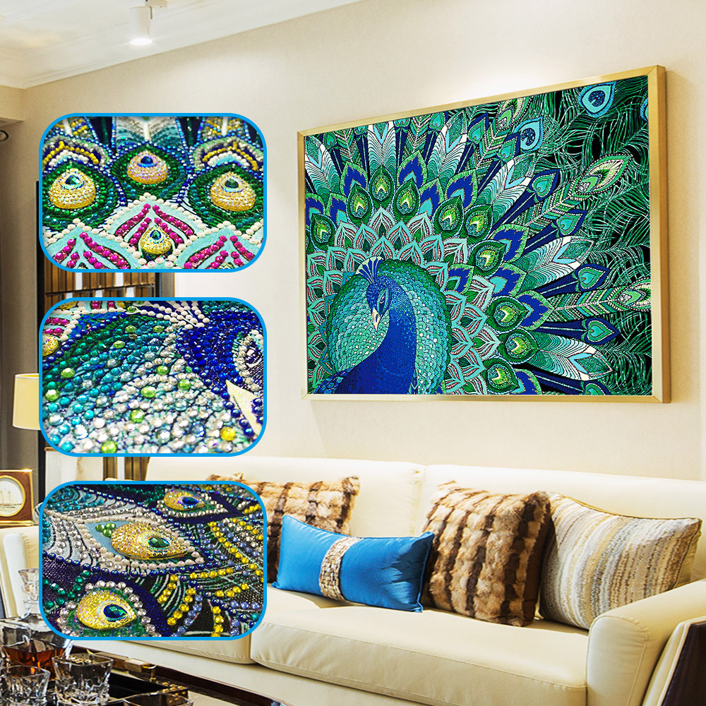 DIY 5D Diamond Painting by Number Kits Full Drill Rhinestone Embroidery Cross Stitch Pictures Arts Craft for Home Wall Decor 12x16In Blue Crane