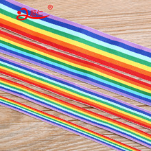 Width 1-5cm / Length 100m Colorful Ribbon Rainbow Ribbon Backpack Decoration Clothing Bag Accessories Festival Celebration