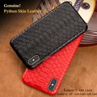 Natural Genuine Leather Case For Sony XZ Premium Cover Luxury Real Python Skin Snake Design Custom