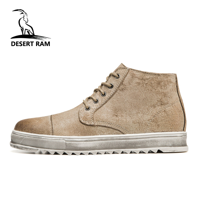 DESERT RAM Brand Men Shoes Leather Retro Martin Safety Work Army Boots Mens Casual Desert Bot Cowboy Ankle Boot Man Working Shoe desert ram brand new ankle bot lace up men s boots leather boots for men shoes casual boot male winter black white sneakers shoe