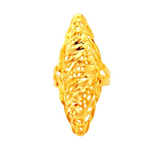 Diamond Rings Sale Dubai: DrBonham 40*20mm Luxury Party Long Ring Hollow 24kGf Dubai