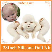 Realiable 70cm 28inch Reborn Baby Doll Accessories With One Head ,Two Hands ,Two legs Best Reborn Baby Kits To DIY Reborn Dolls