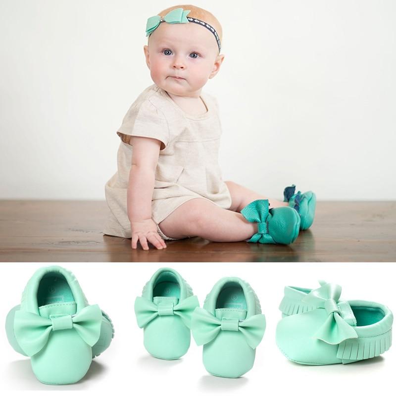 Handmade Lembut Bawah Mode Jumbai Sepatu Bayi Moccasin Sepatu Bayi - Sepatu bayi - Foto 2