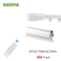 Dooya Super Silent Curtain Rails System, DT52E 75W+6M or Less Track+DC2760, RF433 Remote Controller,Automatic Curtain Control