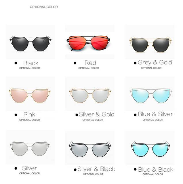 8897b69465 placeholder 2018 nuevas gafas de sol de moda de ojo de gato de diseñador de  marca espejo