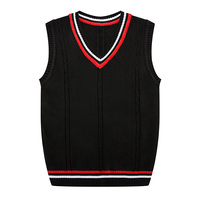 Autumn New Knitted Vest 2017 Sleeveless Sweater Men Round Collar Casual Pullovers Waistcoat Slim Fit Casual