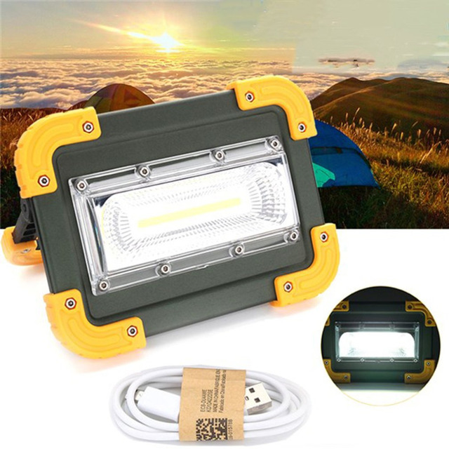 ICOCO 30W USB LED Portable Rechargeable Flood Light Spot Work for Camping Hiking