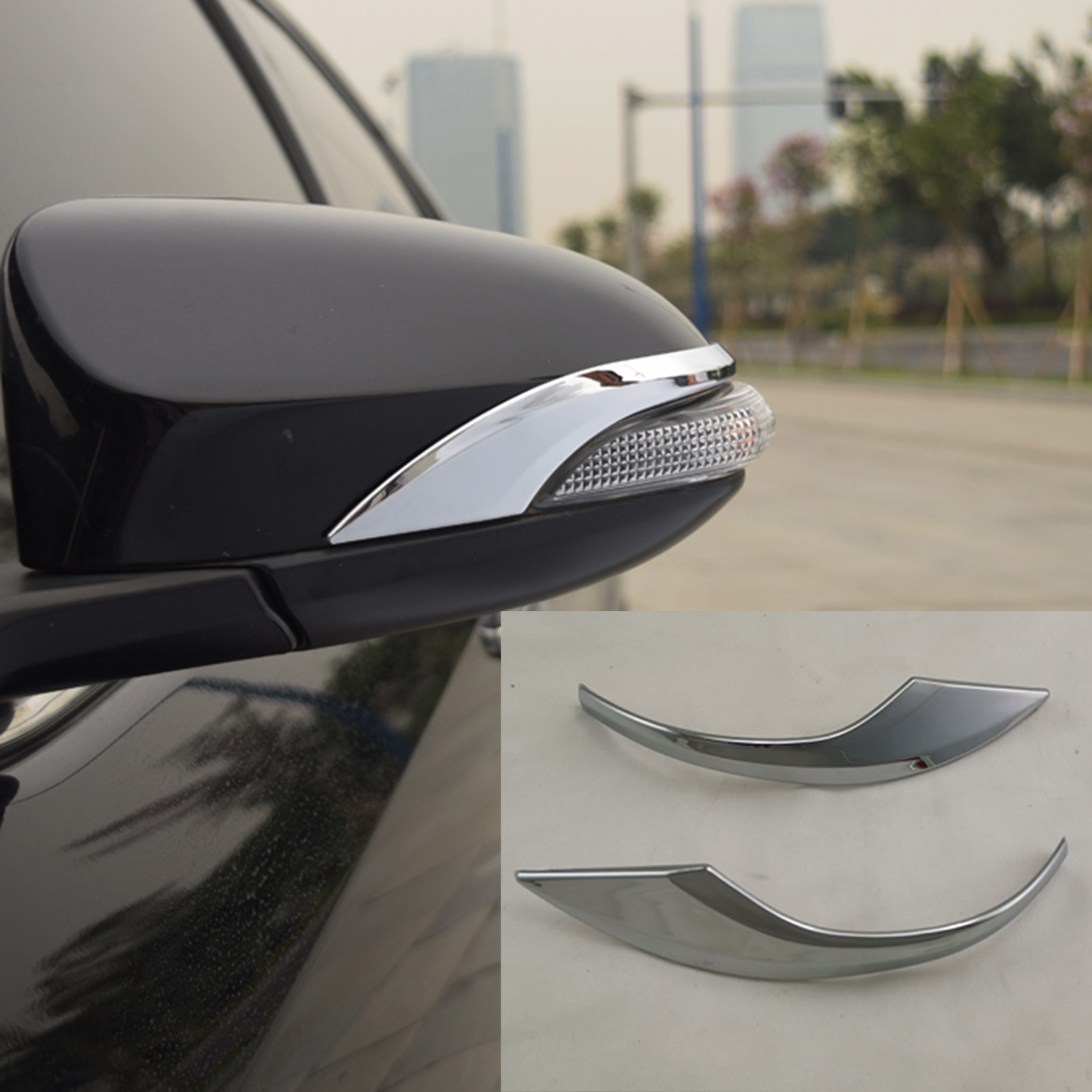FOR 2013-2017 TOYOTA VENZA CHROME SIDE MIRROR FULL ABS COVERS COVER WITH SIGNAL