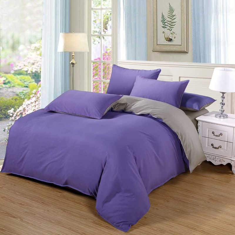постельное белье комплект сбоку постельных принадлежностей супер King постельное белье темно-синие + бежевый 3/4 шт. постельное белье для взрослых постельный комплект человек duvet плоский лист 230*250 см