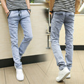 Fashion Men Jeans New Arrival Design Slim Fit Fashion Jeans For Men Good Quality Blue Black Y2031 China Brand Blue Jeans
