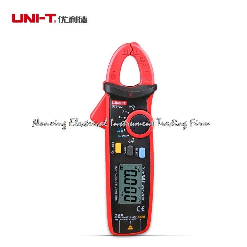 UNI T UT210D Clamp Meter Multimeter AC 2V 20V 200V 20A 200A Auto Range True RMS