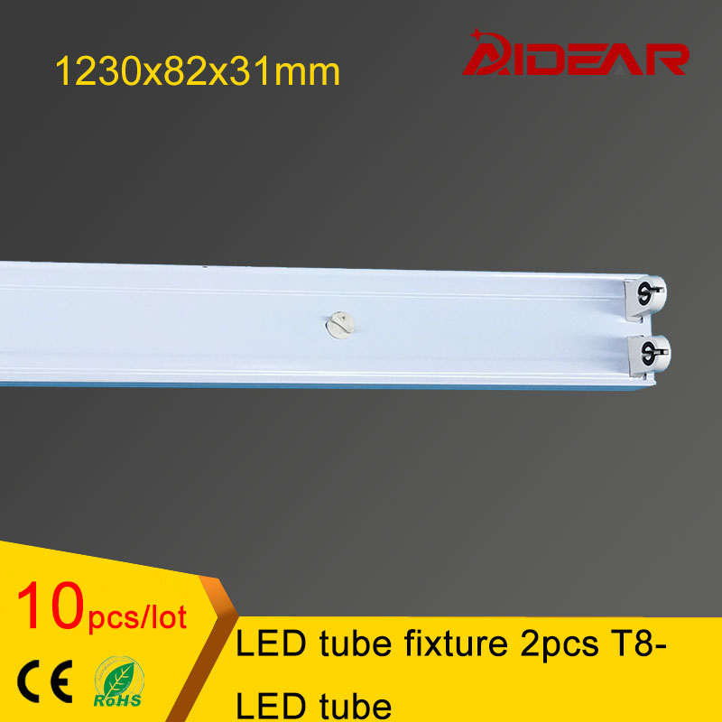 <font><b>4ft</b></font> <font><b>T8</b></font> <font><b>LED</b></font> <font><b>tube</b></font> fixture for 2pcs <font><b>T8</b></font> <font><b>led</b></font> <font><b>tube</b></font> light free shipping image