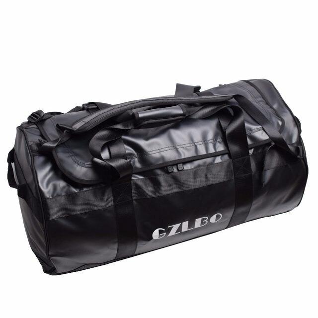 Online Shop GZLBO 65L Popular PVC waterproof bag black travel bag ... 5bc95ec1375ea