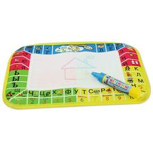 Baby Graffiti Russian Letter Aqua Doodle Drawing Toys Kids Drawing Mat Magic Pen educational Toys For children kids(China)