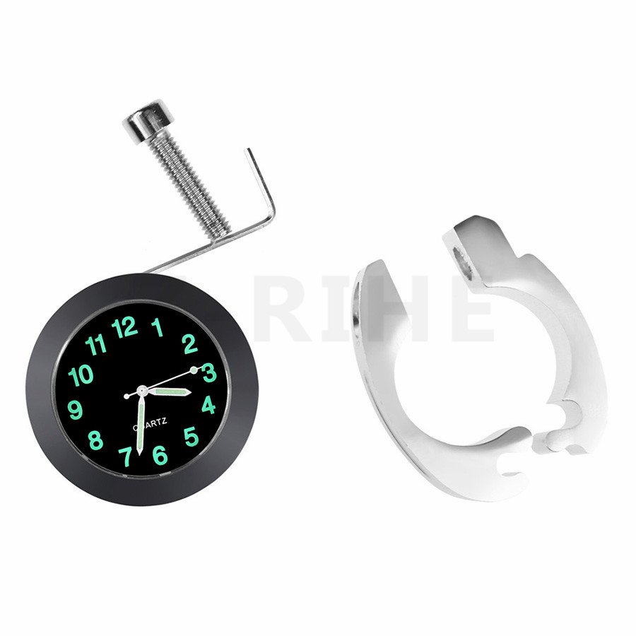 for 7/8 1 Waterproof Motorcycle White Handlebar Mount Dial Clock Watch /Temp Thermometer for Harley Yamaha Motor Bike Accessor цена 2016