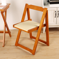 Multifunction Simple Retro Solid Wood Dining Chair with Backrest Household Stable Study Room Chair Folding Portable Wooden Stool