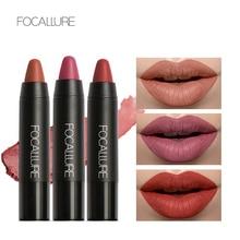 Купить с кэшбэком Focallure 19 Colors Matte Lipstick Pencil Red Lip Stick Mat Lipsticks Tint Waterproof Lip sticks Set Cosmetic Makeup Women