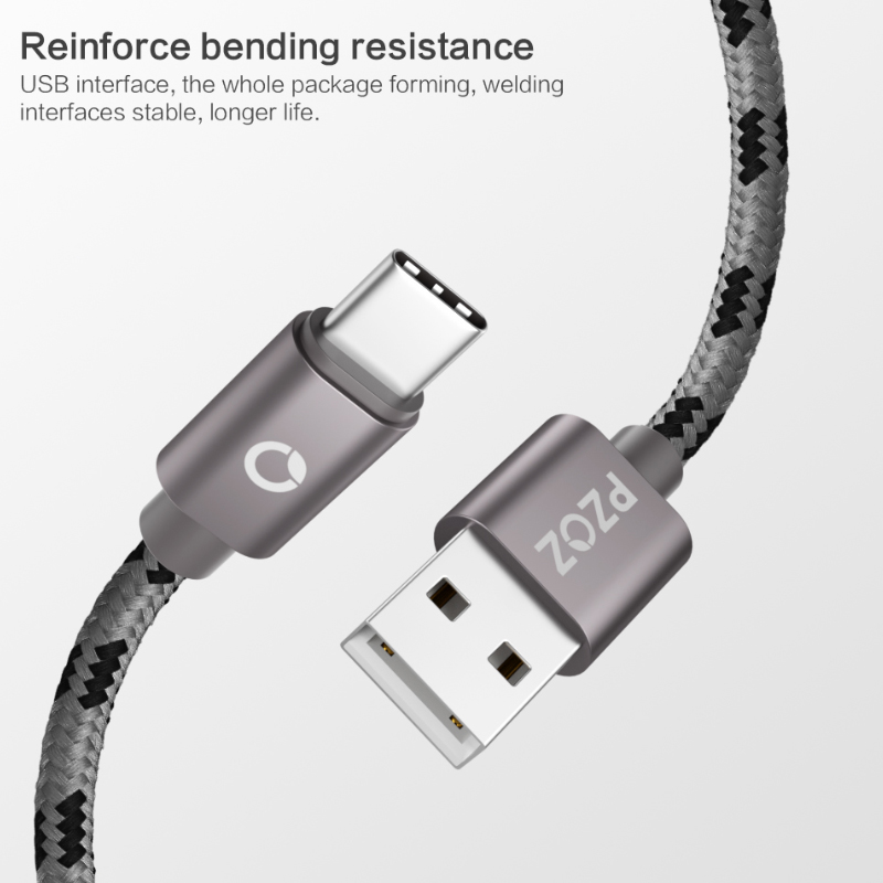Image 2 - PZOZ usb type c cable Fast Charging usb c data Cord usb c Charger For Samsung S10 S9 S8 xiaomi mi 8 a2 redmi note 7 Type c cable-in Mobile Phone Cables from Cellphones & Telecommunications